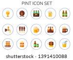 pint icon set. 15 flat pint... | Shutterstock .eps vector #1391410088