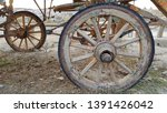 Weathered Cracked Wood Wheel...