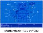 sketch classic robot blueprint... | Shutterstock .eps vector #139144982