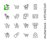 shopping cart vector line icons ... | Shutterstock .eps vector #1391462165