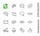sleep vector line icons set....   Shutterstock .eps vector #1391462345