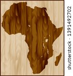 africa map on wood background   Shutterstock .eps vector #1391492702