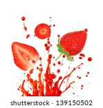fresh strawberry on white... | Shutterstock . vector #139150502