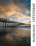 the pier at sunset  in imperial ... | Shutterstock . vector #1391520668
