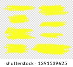 vector hand drawn yellow marker ... | Shutterstock .eps vector #1391539625