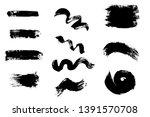 grunge hand drawn paint brush... | Shutterstock .eps vector #1391570708