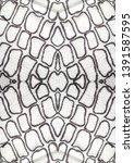 snake skin. black and white...   Shutterstock . vector #1391587595