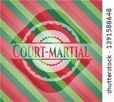 court martial christmas badge.... | Shutterstock .eps vector #1391588648