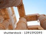ancient city of thebes  karnak...   Shutterstock . vector #1391592095