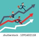 business people running on... | Shutterstock .eps vector #1391602118