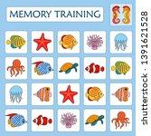 memory game for preschool... | Shutterstock .eps vector #1391621528