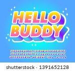 bold cartoon font effect  for... | Shutterstock .eps vector #1391652128