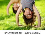 portraits of happy kids playing ...   Shutterstock . vector #139166582