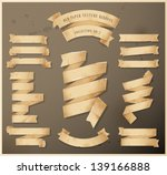 old paper texture ribbons  ... | Shutterstock .eps vector #139166888