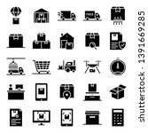 logistic icons pack. isolated... | Shutterstock .eps vector #1391669285