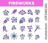 fireworks  firecrackers thin... | Shutterstock .eps vector #1391682182
