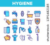 hygiene  cleaning thin line... | Shutterstock .eps vector #1391682185