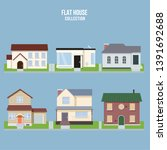 town house cottage and assorted ... | Shutterstock .eps vector #1391692688