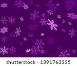 snow flakes falling macro... | Shutterstock .eps vector #1391763335
