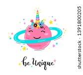magic unicorn little cute...   Shutterstock .eps vector #1391800205