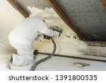 spray polyurethane foam for... | Shutterstock . vector #1391800535