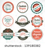 colorful set of bicycle badges... | Shutterstock .eps vector #139180382