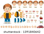 cartoon curly redheaded man... | Shutterstock .eps vector #1391840642