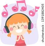 illustration of a kid girl... | Shutterstock .eps vector #1391882405