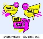 sale banner template design ... | Shutterstock .eps vector #1391883158