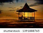 sunset at tanjung beach, balikpapan city