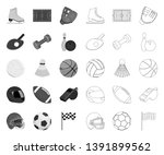 different kinds of sports mono... | Shutterstock .eps vector #1391899562