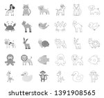 an unrealistic mono outline... | Shutterstock .eps vector #1391908565