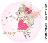 hand drawn beautiful cute...   Shutterstock .eps vector #1391941205
