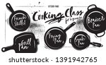 Different Types Of Pans. Chalk...
