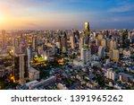 Aerial View Of Bangkok Skyline...