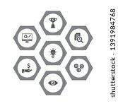 set of 7 startup icons set.... | Shutterstock .eps vector #1391984768