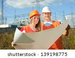 two workers wearing protective ... | Shutterstock . vector #139198775