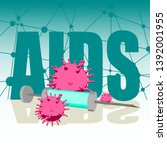 abstract virus image on... | Shutterstock .eps vector #1392001955