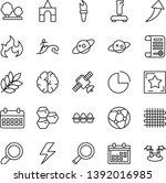 thin line vector icon set  ...
