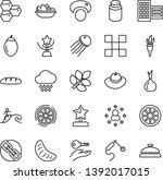 thin line vector icon set  ... | Shutterstock .eps vector #1392017015