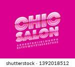 vector pink poster chic salon.... | Shutterstock .eps vector #1392018512
