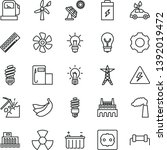 thin line vector icon set  ...   Shutterstock .eps vector #1392019472