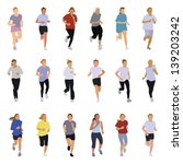 collection of running... | Shutterstock .eps vector #139203242