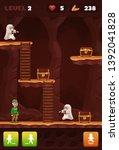 artoon cave mobile game design....