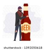 homeless man alcoholic...   Shutterstock .eps vector #1392050618