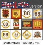 set of number eighty eight... | Shutterstock .eps vector #1392052748