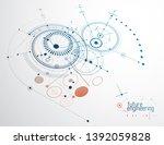 mechanical engineering... | Shutterstock .eps vector #1392059828