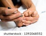 closeup of a young caucasian... | Shutterstock . vector #1392068552