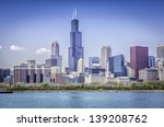 Downtown Of Chicago Against...