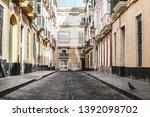 street of ancient cadiz in the...   Shutterstock . vector #1392098702